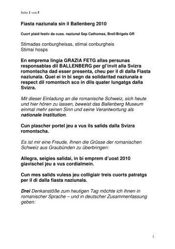 Nationalrat Sep Cathomas - Seniorweb.ch