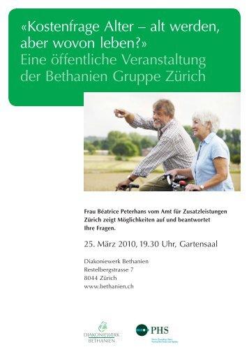 «Kostenfrage Alter – alt werden, aber wovon leben ... - Seniorweb.ch