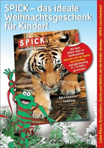 SPICK – das ideale Weihnachtsgeschenk für Kinder! - Seniorweb.ch