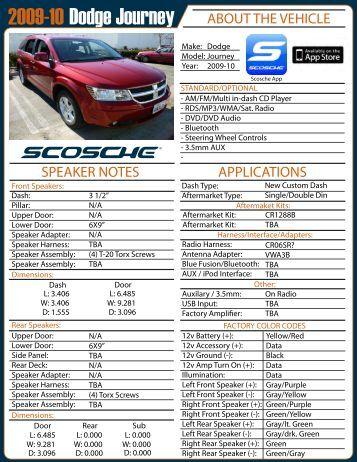 2009-10 Dodge Journey AE Page 1 - Scosche