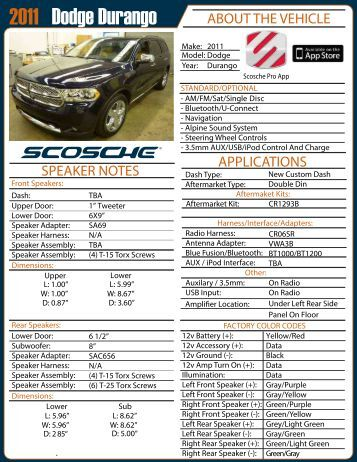 Dodge Durango 2011 - Scosche