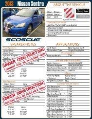 Nissan Sentra 2013 - Scosche