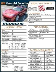 Chevrolet Corvette - Scosche