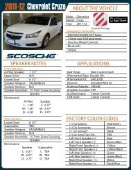 Chevrolet Cruze - Scosche