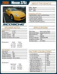 2009 Nissan 370z AE Page 1 - Scosche