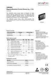 CMS2005 MagnetoResistive Current Sensor (IPN = 5 A) - Sensitec