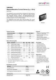 CMS2050 MagnetoResistive Current Sensor (IPN = 50 A) - Sensitec