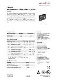 CMS2015 MagnetoResistive Current Sensor (IPN = 15 A) - Sensitec