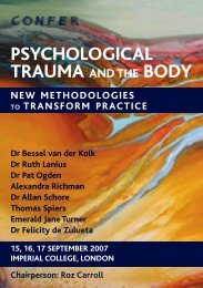 psychological trauma body and the - Sensorimotor Psychotherapy ...
