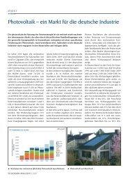 Photovoltaik – ein Markt für die deutsche Industrie - Sensor Magazin