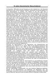 10 Jahre ökumenischer Besuchsdienst - Förderverein für caritativ ...