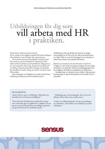 vill arbeta med HR - Sensus