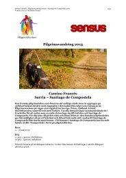 Beskrivning, program och villkor - Sensus