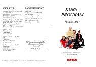 KURS - PROGRAM - Sensus