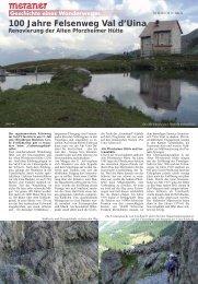100 Jahre Felsenweg Val d'Uina Renovierung der Alten ... - Sent