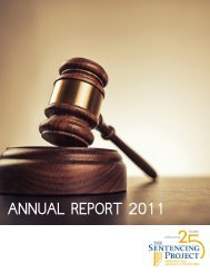 ANNUAL REPORT 2011 - The Sentencing Project