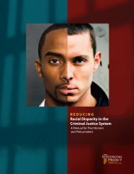 Reducing Racial Disparity in the Criminal Justice System: A Manual