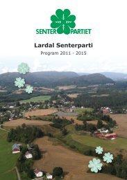 Lardal Senterparti, program 2011-2015 - Senterpartiet