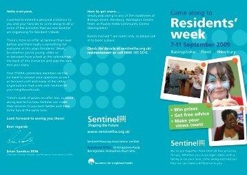 Residents' week - Sentinel Housing Association