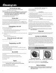 Programming a user code - Sentry® Safe - Page 4