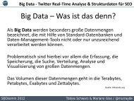 Big Data – von Twitter Real-Time Analyse bis ... - SEOkomm
