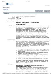 Patent Specialist - Global IPR Management