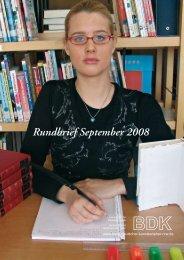 Rundbrief September 2008 - Bund-Deutscher-Kunsterzieher-NRW