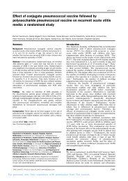 Effect of conjugate pneumococcal vaccine followed by ... - sepeap