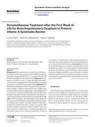 Dexamethasone Treatment after the First Week of Life for ... - sepeap