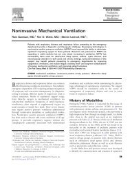 Noninvasive Mechanical Ventilation - sepeap