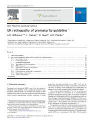 UK retinopathy of prematurity guideline - sepeap