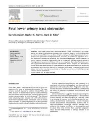 Fetal lower urinary tract obstruction - sepeap