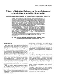 Efficacy of nebulized epinephrine versus salbutamol in ... - sepeap