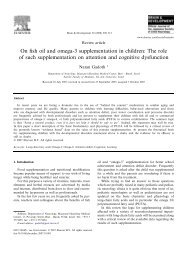 On fish oil and omega-3 supplementation in children: The ... - sepeap