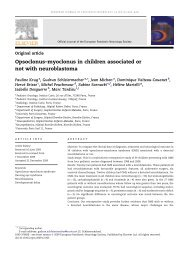 Opsoclonus-myoclonus in children associated or not with ... - sepeap