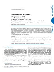 Les dysphonies de l'enfant Dysphonia in child - sepeap