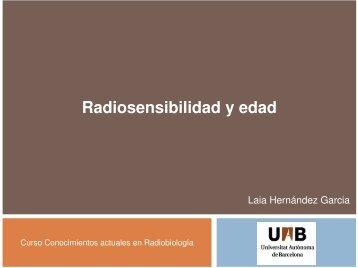 Radiosensibilidad y edad - SEPR