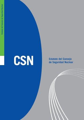 CSN Estatuto del Consejo de Seguridad Nuclear