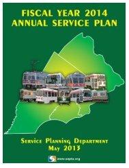 FY 2014 Annual Service Plan - Septa