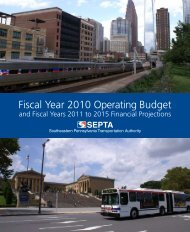 Fiscal Year 2010 Operating Budget - Septa