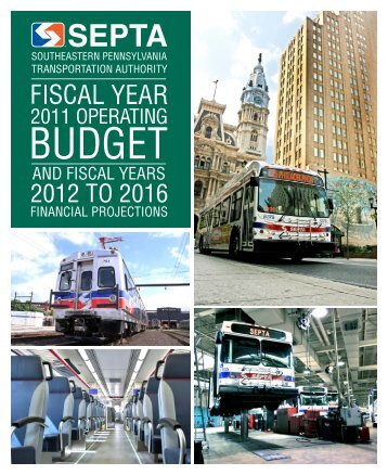 FY 2011 Operating Budget and FY 2012-2016 Financial ... - Septa