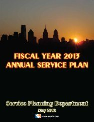 Fiscal Year 2013 Annual Service Plan - Septa