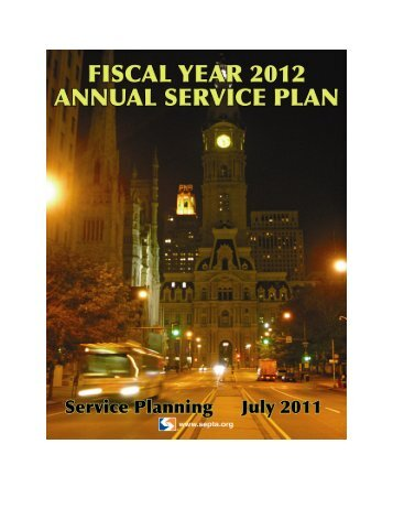 FY 2012 Annual Service Plan - Septa