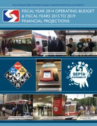 Proposed Operating Budget - Septa