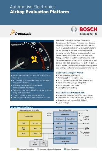 Airbag Evaluation Platform - Bosch Semiconductors and Sensors