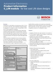 LIN IP - Technical Information (PDF 194.47 kB) - Bosch ...