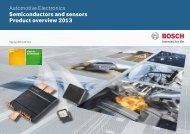 Product catalog spring 2013 - Bosch Semiconductors and Sensors