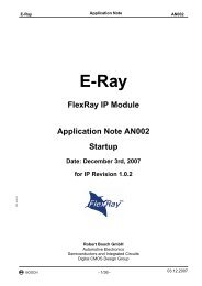 E-Ray IP - Application Note - Startup - Bosch Semiconductors and ...