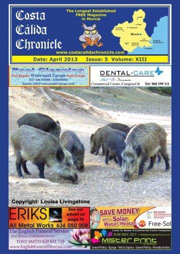 April 2013 - Costa Calida Chronicle