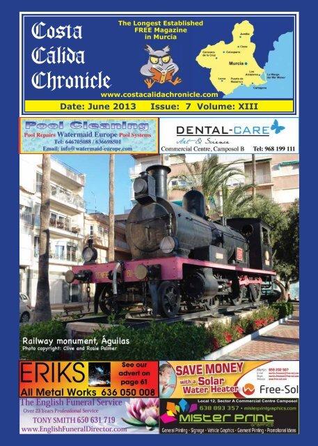 June 2013 - Costa Calida Chronicle